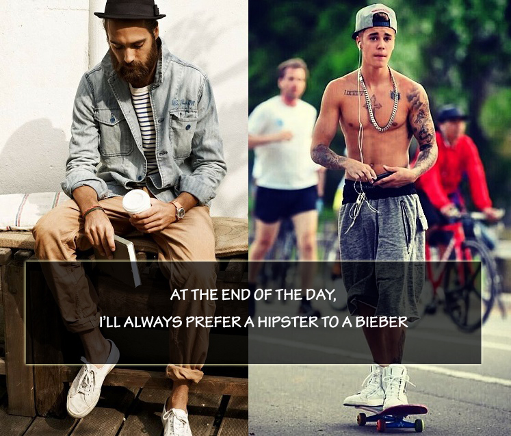 Discovery of the week: Hipster vs Bieber