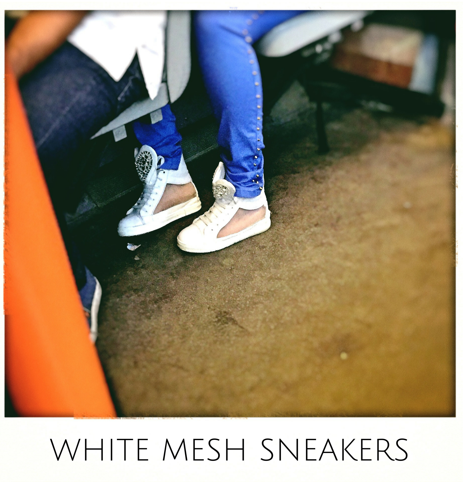 White MesS Sneakers